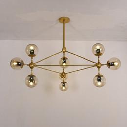 Glass Globe For Light Australia - Modern Nordic Gold Glass ball pendant lamps large droplight for dinning living room cafe restaurant lighting fixtures globe pendente