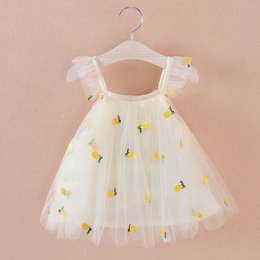 pretty outfits 2019 - Cute Lovely Toddler Pretty Baby Girls Dress Sleeveless Lace Tulle Sundress Bandage Outfit Summer Dresses cheap pretty ou