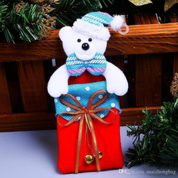 $enCountryForm.capitalKeyWord Australia - Nice Christmas Gift Bags Small Candy Bags Snow Man Gift Bag Candy Cookie Biscuits Bag Foods Packaging Birthday Xmas Party Supply