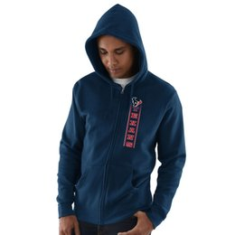Hoodie caps online shopping - 2019 Men Houston Sweatshirt Texans Salute to Service Sideline Therma Performance Navy Blue Black Hyper Stack Full Zip Hoodie