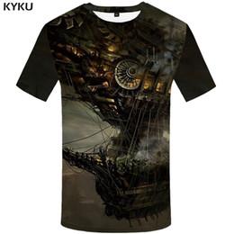 $enCountryForm.capitalKeyWord Australia - KYKU Spacecraft T Shirt Men Mechanical Tshirt Funny T Shirts Hip Hop Tee Streetwear Mountain 3d T-shirt Black Mens Clothing 2018