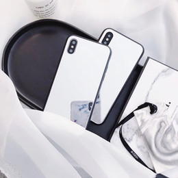 Iphone Girl Silver Case Australia - Ins Tempered Glass Makeup mirror girl luxury Mobile Phone Case for iphone 6 6s 6plus 7 8 plus X XR XS MAX 10