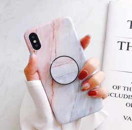 $enCountryForm.capitalKeyWord Australia - Marble pattern Phone Case holder sockets Anti-fall soft TPU phone cases with airbag Bracket for iPhone XS MAX XR X 8 7 6S Plus