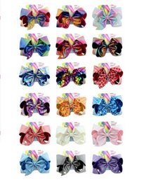 hair papers Canada - 8 Inch Baby Girl Bows And Paper card leather laser cloth super large bow hairpin child hair accessories with cardboard Colorful Bowknot A25