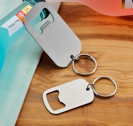 small bottle opener keychain NZ - DHL Protable Keychain Opener Keyring Stainless Steel Beer Bottle Opener Big and Small Size Beverage Home bar Openers