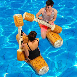 $enCountryForm.capitalKeyWord Australia - 4 Pieces Joust Pool Float Game Inflatable pool toys swimming Bumper Toy For Adult Children Party Gladiator Raft swim ring