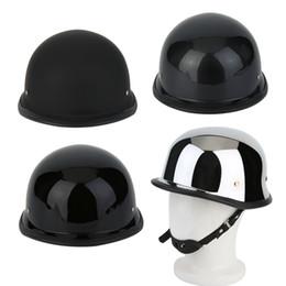 Half Helmet Black Australia - Hot High quality Motorcycycle Helmets Half German Style Motorcycle Helmet Carbon Fiber Durable Half Face German Helmet M L XL