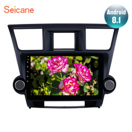 "Gps For Toyota Highlander Australia - Seicane For 2014 2015 Toyota Highlander 2Din Android 8.1 10.1"" Car Radio GPS Multimedia Player Head Unit Support Wifi OBD2 TPMS"