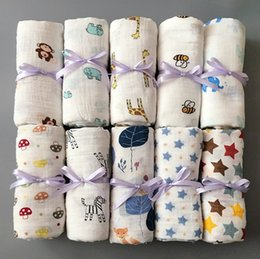 Top quality Infant muslin blanket INS baby swaddle wrap blanket towelling baby spring summer Swaddlin Cactus animal 115*115cm 70 style DHL on Sale