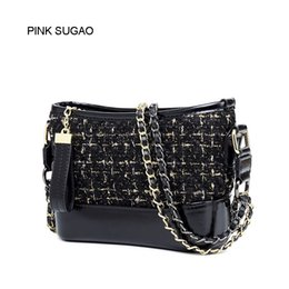 CroChet tassel bag online shopping - Pink sugao luxury chain bag quilt leather shoulder bag designer bag luxury handbag fashion famous brand messenger bags crossbody bags women