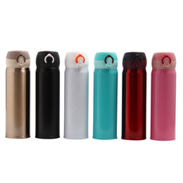 $enCountryForm.capitalKeyWord NZ - Thermos Cup 304 Stainless Steel Bouncing Cover Thermos Cup 500ml Student Portable Thermal Insulation Water Bottles DH0002