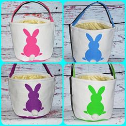 $enCountryForm.capitalKeyWord Australia - Fashion Easter Rabbit Basket Cute Bunny Ear Bags Rabbit Printed Canvas Tote Bag Handbag Candy Baskets Egg Buckets