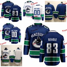598453eeb 2019 Vancouver Canucks Jay Beagle Stitched Jerseys Mens Customize Home Blue  Shirts 83 Jay Beagle Hockey Jerseys S-XXXL