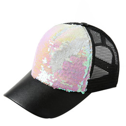 sequin ball cap adjustable Australia - Mens Womens Double Color Sequins Baseball Cap Adjustable Strapback Hats Snapback Apparel Accessories czapka z daszkiem