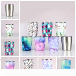 wholesale steel tumblers NZ - Modern Curved Tumbler Mini drinking vacuum insulated mug 12oz stainless steel kids cup with lid wine tumblers LXL1077-1