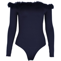 Designed Hot Suits Australia - 2019 European designer design new hot fashion personality solid color warm long-sleeved one-piece underwear club party nightclub ladies sexy