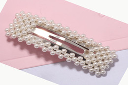 Hair Clip Animals Australia - New product listing fashionable trend sweety cute pearl hair clip wholesale custom high end hairgrips hairpin