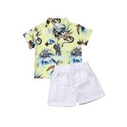 $enCountryForm.capitalKeyWord Australia - Cute Boys Clothing Set Fashion Summer Boys Formal Suit Dress Shirt+Shorts Summer Outfits Children Clothes Sets Kids Boy Costume