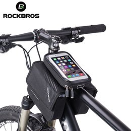 ROCKBROS Cycling 6.0 '' Bike Frame Bag Borsa a tracolla per bicicletta Top Touch Screen Custodia impermeabile per telefono