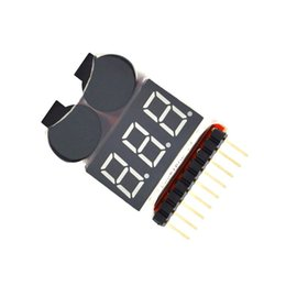 $enCountryForm.capitalKeyWord NZ - 2 In 1 Li-ion RC Lipo Battery Low Voltage Alarm 1-8S Buzzer Indicator Checker Tester LED Display Board Module