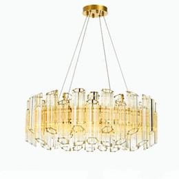 $enCountryForm.capitalKeyWord Australia - JESS Luxury Post Plum Glass Chandelier Modern Light Pendant Tube Pendant Hang Lamp Lighting Living Room Dining Room Suspend Lamp