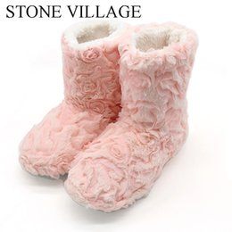 wholesale gifts homes NZ - STONE VILLAGE Fan welfare package shop gift super cost-effective gift indoor slippers home boots Soft Warm Slippers