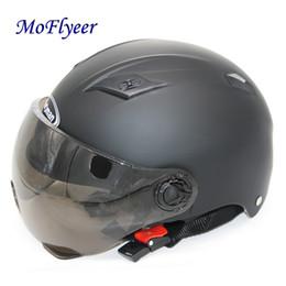 $enCountryForm.capitalKeyWord Australia - MoFlyeer Motorcycle Open Face Half Helmet Electric Bicycle Riding Helmet Unisex Breathable Sunscreen Summer Helmets