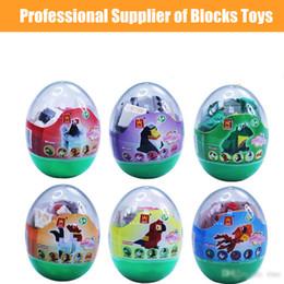 $enCountryForm.capitalKeyWord Australia - Building blocks Kids Animals Surprise Twist Eggs Toys Goldfish Rooster Frogg 6 Styles Bricks Toys Boys Girls Birthday party Gifts