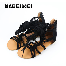 $enCountryForm.capitalKeyWord Australia - high gladiator sandals womens shoes gladiator mature cover heel summer shoe large size 35-43 flats black sandale femmes