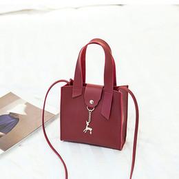 $enCountryForm.capitalKeyWord Australia - Women black hand bag Handbag Deer Decoration przezroczysta Metal solid pink torba All-purpose Single Shoulder Messenger Bag #15