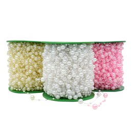 $enCountryForm.capitalKeyWord NZ - 5 Meters Fishing Line Artificial Pearls Beads Chain Garland Flowers Bridal Tiara Wedding Decoration Event Party Supplies Beige w C19041701