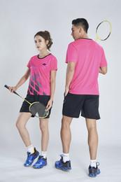 $enCountryForm.capitalKeyWord Australia - YON EXX Badminton Suit Sportswear for Men and Women Short Sleeve T-shirt for Leisure Running Basketball casual wear 1998+7009 red