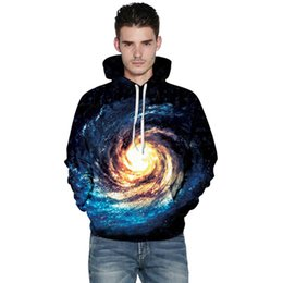 Jacket galaxy man online shopping - 3D Sky Space Galaxy Hoodies Cap Hoody Printing beautiful Cool Galaxy Jacket Men Women Clothing Sweatshirt Hooded