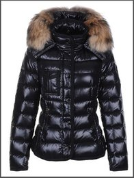 down jacket raccoon fur black NZ - Winter M Women Jackets Black 90% White Duck Down Coats With Raccoon Fur Collar Hooded White Red Female Thinker Clothes Sale