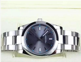 Men watches resistant online shopping - luxury watch AAA Quality mm Date Steel Gray Dial Mechanical Automatic Mens Watch Brand Watches Men Water Resistant Auto Business