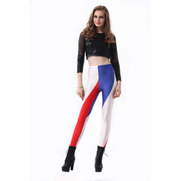7b49af5889fb0 Girl Leggings French National Flag 3D Graphic Full Print Elastic Waist Band  Pants Woman Workout Pencil Fit Lady Sports Trousers (RLLgs3223)