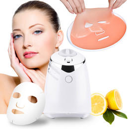 natural acne skin care NZ - Free Shipping Fruit Face Mask Machine Maker Automatic DIY Natural Vegetable Facial Skin Care Instrument With 32PCS Collagen