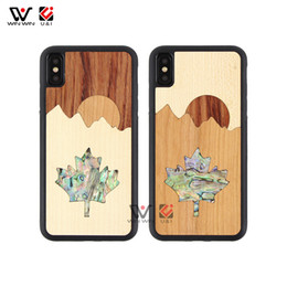 maple iphone Canada - Wholesale Wood Mobile Phone Case Sun Maple Design Shell Phone Case For iPhone 6 7 8 Plus X XR XS Max
