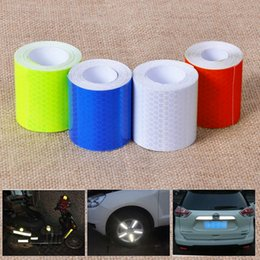 white adhesive tape Australia - Hot Sale 5cmx3m Safety Mark Reflective Tape Stickers Self Adhesive Warning Tape Automobiles Motorcycle Reflective Film
