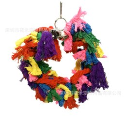 $enCountryForm.capitalKeyWord UK - Parrot Toys Cotton Rope Rings Bird Small Bell Gnaw Toys Swing Elevated Station Bar Cross Border For