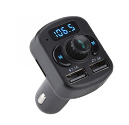 Discount music player sony - 807E 805E DUAL Car Kit Handsfree Wireless Bluetooth Transmitter FM LCD MP3 Player USB Charger Support TF U Disk MP3 Musi