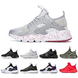 Discount cheap huaraches shoes - Cheap White Dot ACE Huarache 4.0 IV 1.0 Running Shoes Classic Triple Black red men women Brand Huaraches luxury sports S