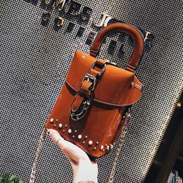 $enCountryForm.capitalKeyWord Australia - Rivet Women Small Day Clutch PU Fashion Lady Chain Shoulder Handbags Causal Style Party Evening Bags Brown Black Green Color Bag #92892