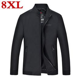mens high collar zipper jacket 2019 - 2019 new 8XL 7XL 6XL plus size high quality Casual Jackets autumn Standing collar Coat Men Sportswear Mens fashionable j