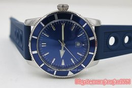 $enCountryForm.capitalKeyWord Australia - Hot Sale Fine Quality Automatic Mechanical HERITAGE 46 Blue Dial Watch Silver Rubber Belt Siliver Case Men s Wristwatchdesigner watches