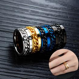 $enCountryForm.capitalKeyWord Australia - Men Stainless Steel Ring Fashion Roman Numerals Rotating Rings Charm Jewelry Engagement Anniversary Gift for Husband Boyfriend