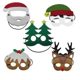 Tree mask online shopping - Fashion Funny Christmas Party Mask Reindeer Santa Claus Tree Snowman Masks Children Kids Christmas Dress up Costume Favor Gifts