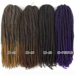 quality afro hair extension Australia - A Best Quality 20inch 100g Soft Silky Afro Synthetic Marley Hair Braid Natural Hair Kinky Twist Marlry Braid 20strands Pack