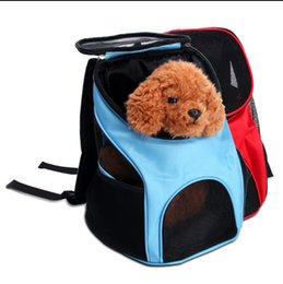 Bags Carry Puppies Australia - Polyester Travel Breathable Backpack For Dogs Carrier Portable Carrying Pet Bags Cat Outdoor Packaging Bag Dasyure Pets Puppy