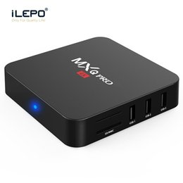 mxq android tv box 4k NZ - MXQ PRO Android TV Box RK3229 H3 Chip Smart Boxes 4K Quad core 1GB 8GB Android 7.1 streaming media player support Wi-Fi